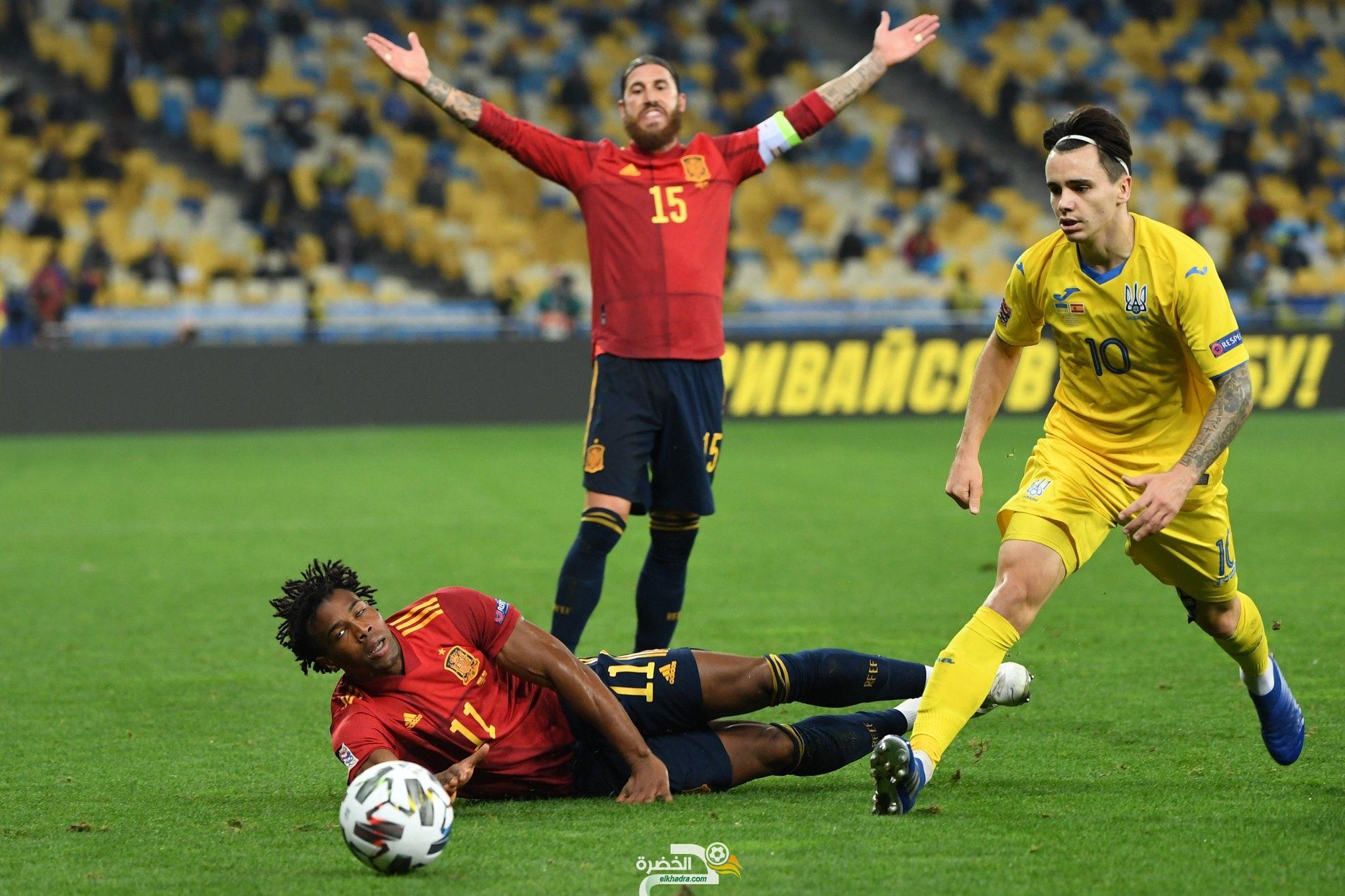 منتخب أوكرانيا يفوز على إسبانيا بهدف دون رد 29