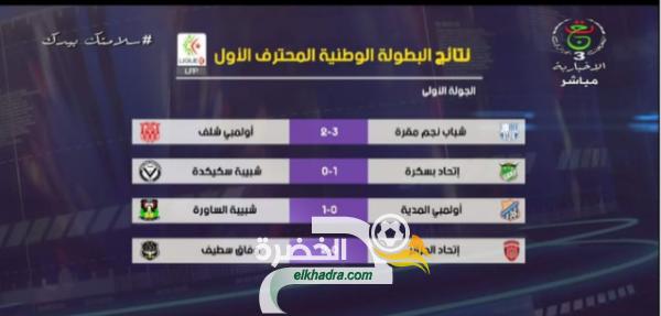 بالفيديو : ملخصات جميع مباريات الجولة 1 من الدوري الجزائري 32
