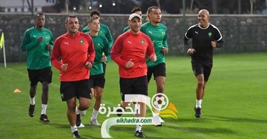 المنتخب المغربي يجري ثاني حصة تدريبية تأهبا لمواجهة أفريقيا الوسطى 23