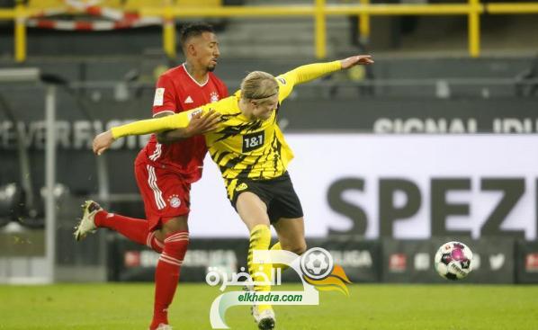 بايرن ميونخ يفوز على مضيفه بوروسيا دورتموند 3-2 في كلاسيكو ألمانيا 9
