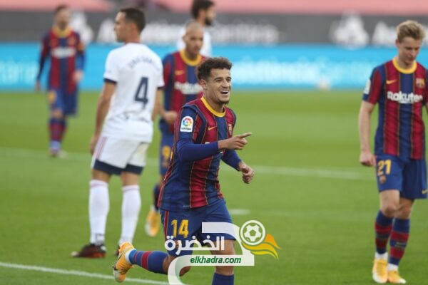 برشلونة يعود لطريق الانتصارات ويحقق الفوز على أوساسونا 33
