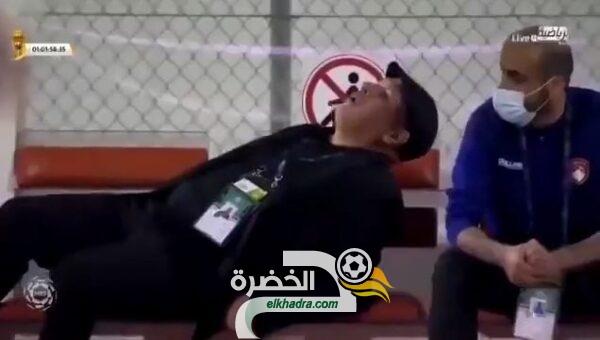 بالفيديو المدرب زكري يسقط مغميا عليه على المباشر 28