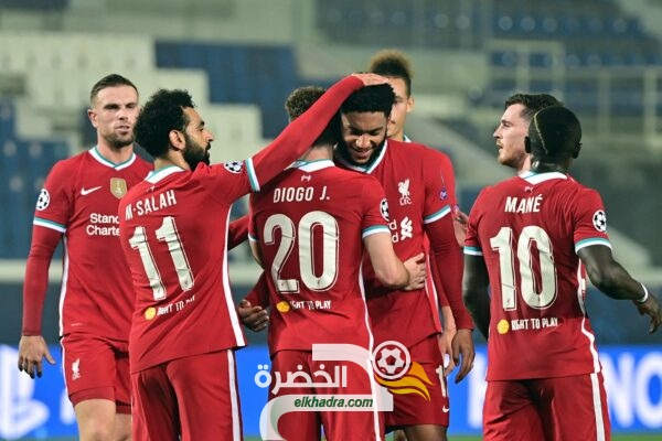 ليفربول يفوز علي أتالانتا 5-0 في مرحلة المجموعات من دوري الأبطال 32