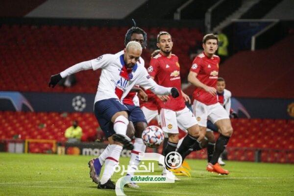 باريس سان جيرمان ينتزع الصدارة من مانشستر يونايتد بفوزه عليه بثلاثية 32