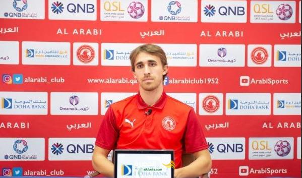 الإسباني مونييسا لاعب العربي القطري يشيد بالجزائري أيوب عزي 12