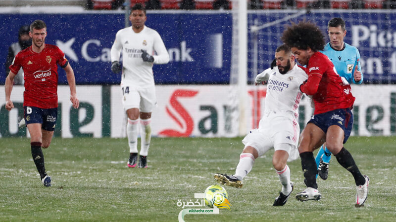 تحت الثلوج نادي ريال مدريد يسقط في فخ التعادل السلبي أمام أوساسونا 32