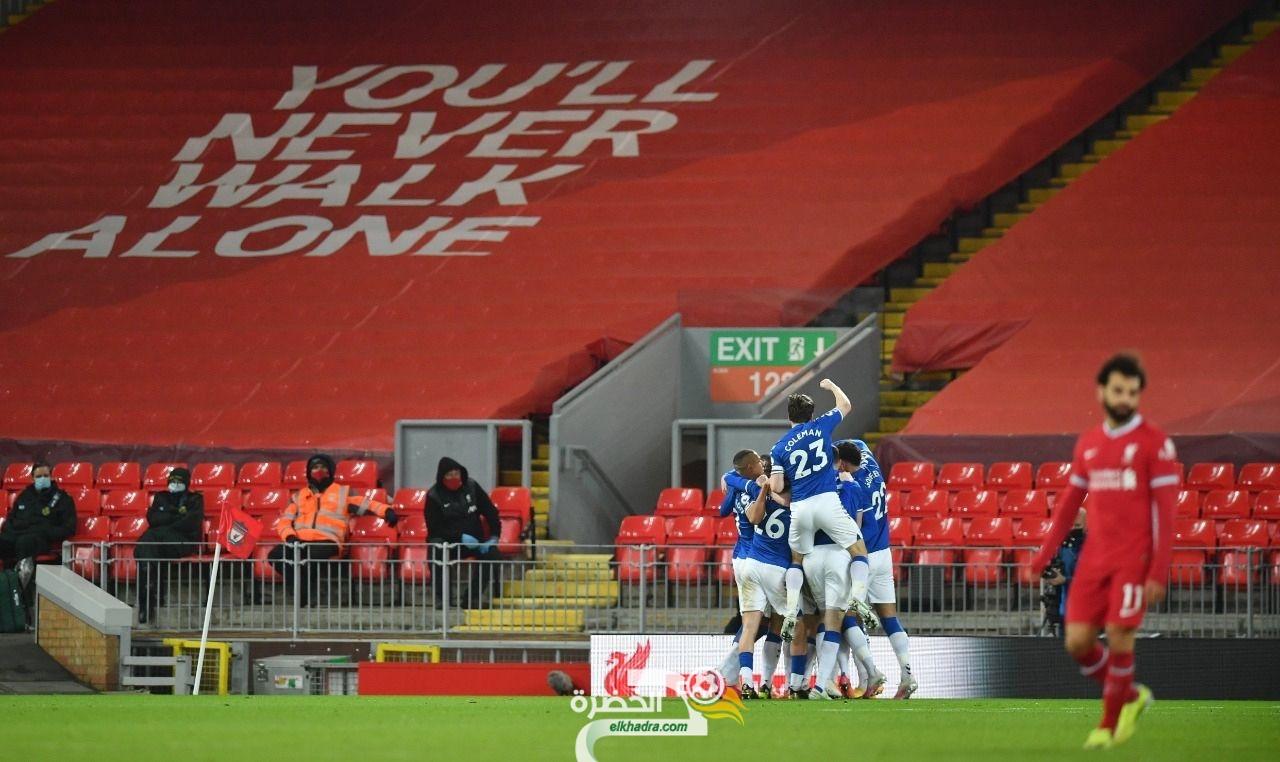 إيفرتون يفوز على ليفربول لأول مرة منذ 22 عام على ملعب الانفيلد بالبريميرليج 32