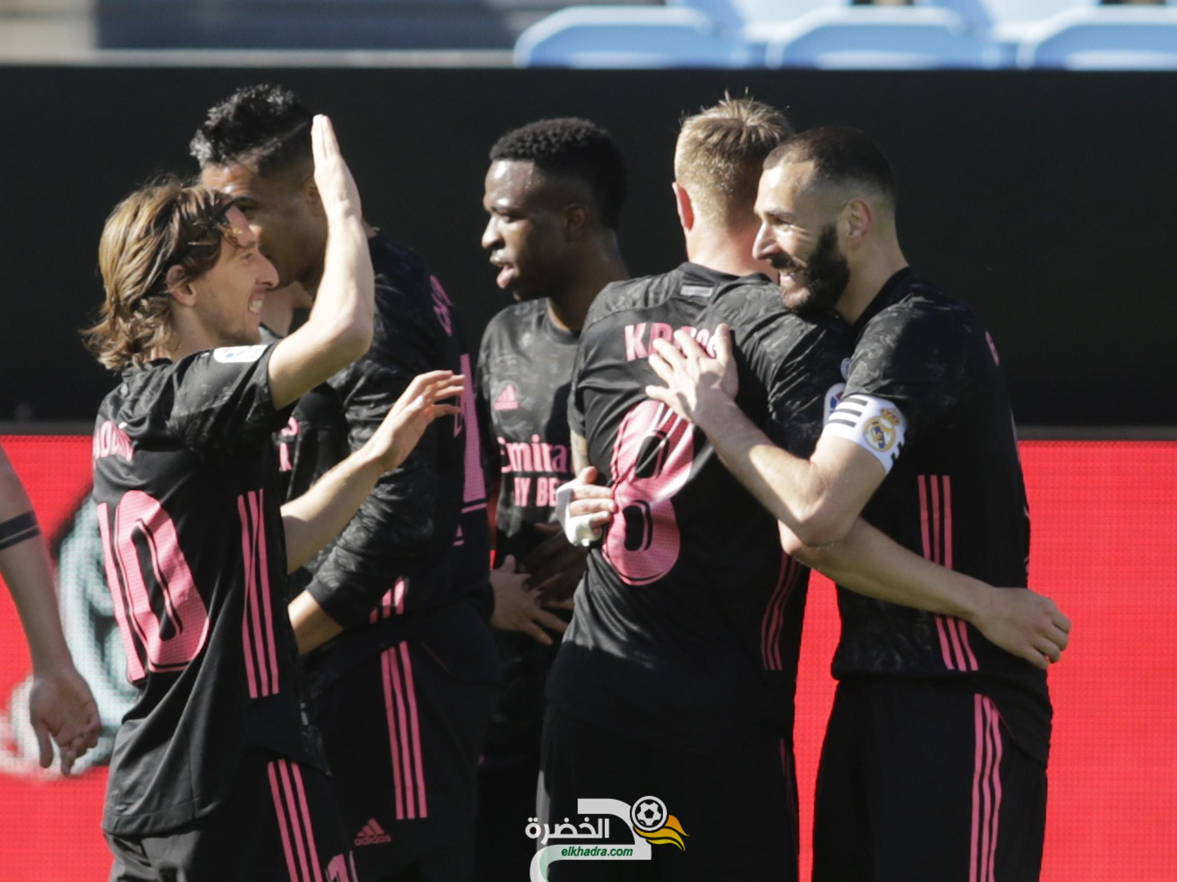 كريم بنزيمة يقود ريال مدريد إلى فوز ثمين على مضيفه سيلتا فيغو 1