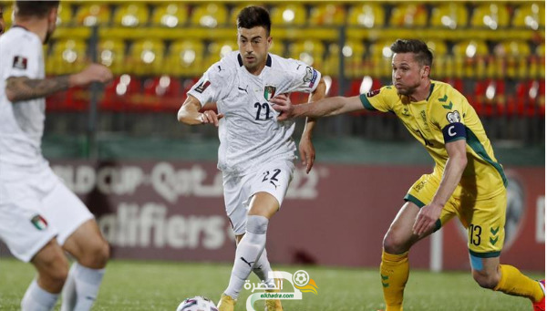 منتخب إيطاليا يحقق فوزًا صعبًا على مضيفه ليتوانيا بهدفين دون رد 4