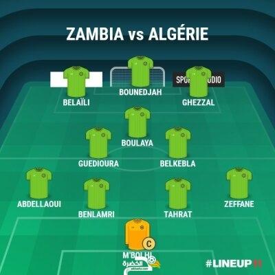 التشكيلة المحتملة للمنتخب الجزائري ضد زامبيا 2