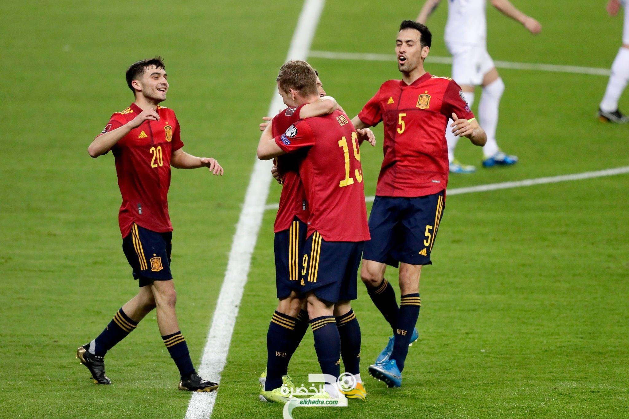 في تصفيات كأس العالم قطر2022 : إسبانيا تهزم كوسوفو بثلاثية 3