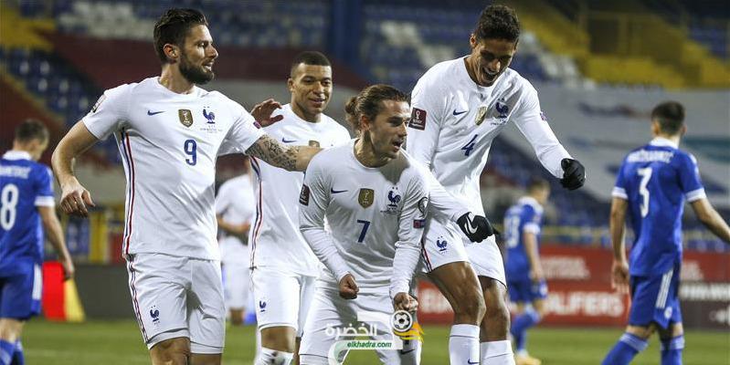 منتخب فرنسا يفوز أمام منتخب البوسنة والهرسك ضمن تصفيات كأس العالم قطر 2022 2