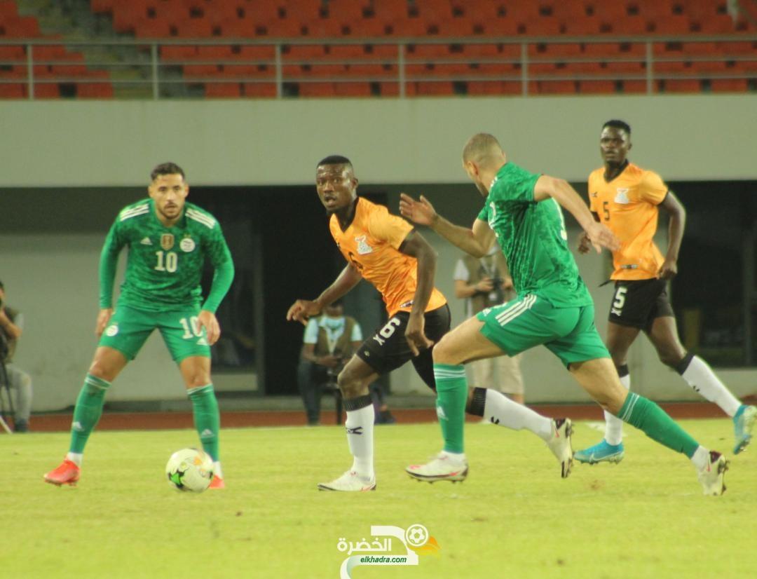 الجزائر تتعادل في لوزاكا مع زامبيا و الحكم 1