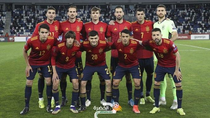 المنتخب الإسباني يفوز ضد جورجيا في التصفيات المؤهلة لمونديال قطر 2022 23