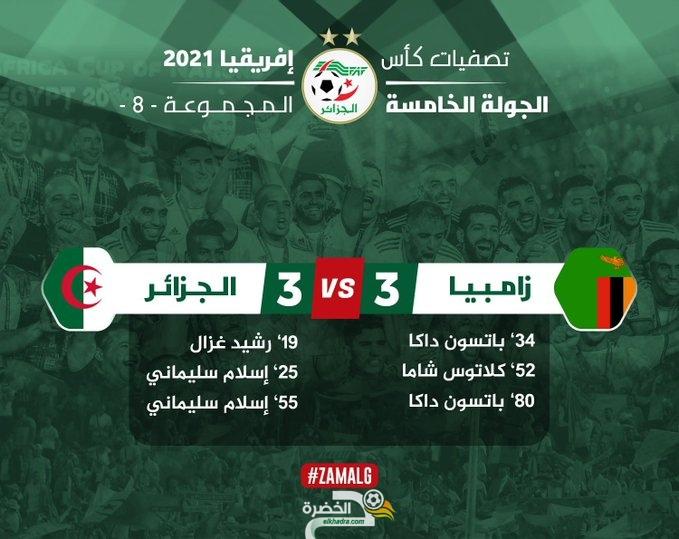 اهداف مباراة الجزائر ضد زامبيا اليوم - سليماني سجل هدفين وصنع هدف 1