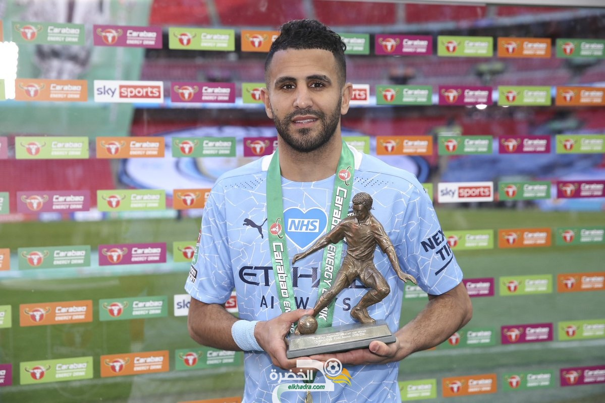 رياض محرز يفوز بجائزة أفضل لاعب في نهائي كأس الرابطة الإنجليزية 23