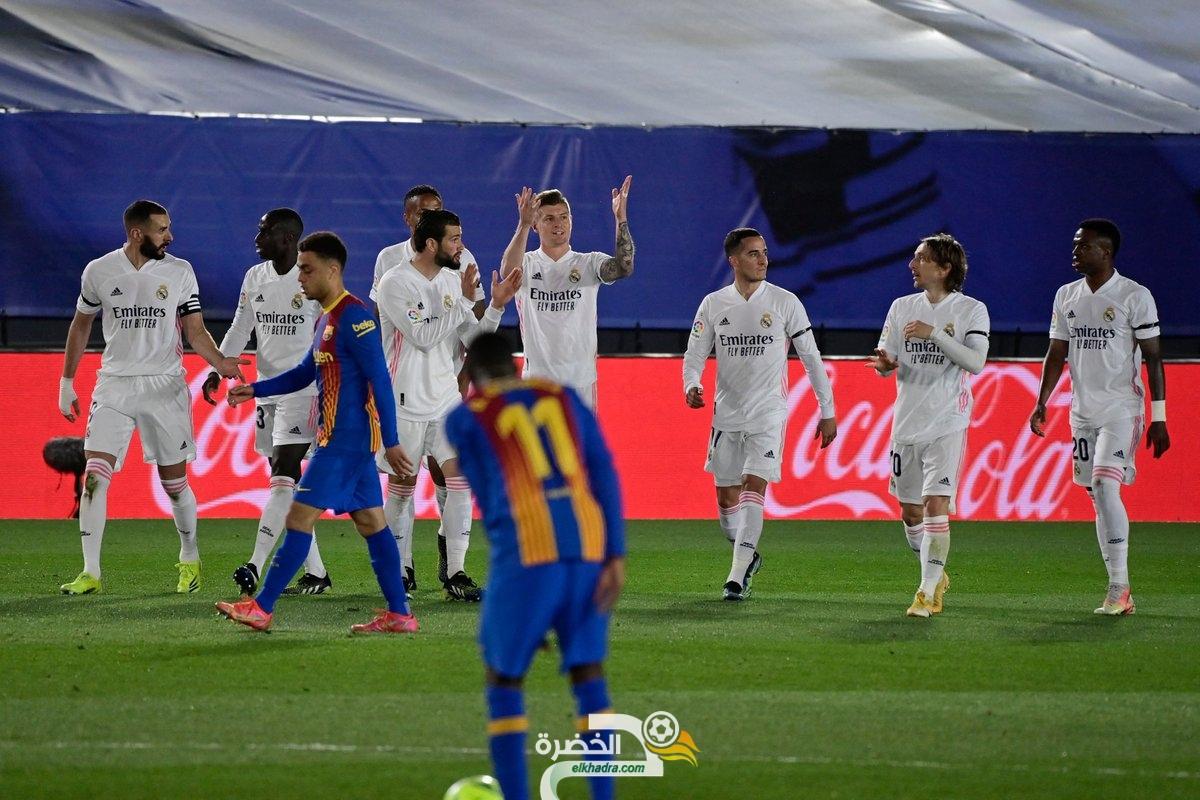 ريال مدريد يحسم الكلاسيكو بالفوز على برشلونة بهدفين لهدف 1