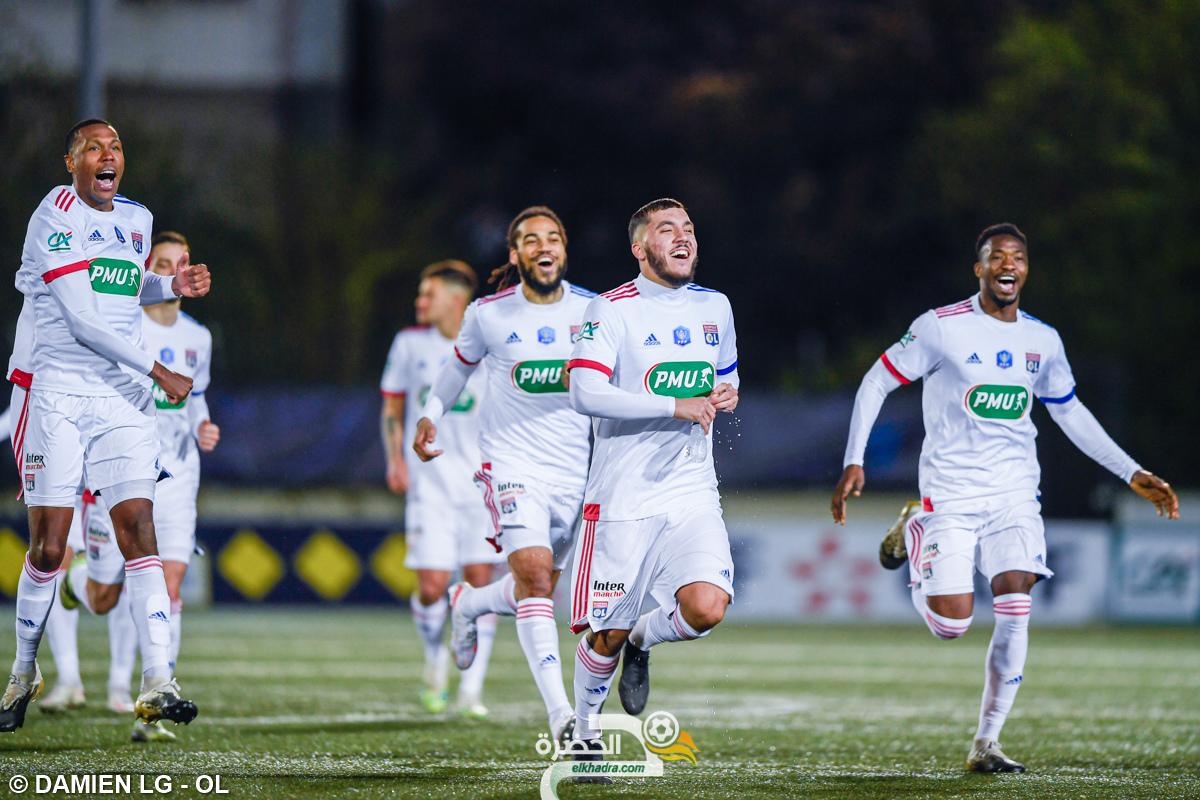 بدون سليماني وبلعمري .. نادي ليون يتأهل إلى ربع نهائي كأس فرنسا 23