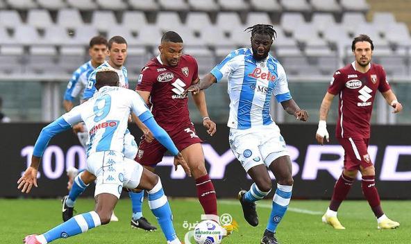 الدوري الإيطالي : نابولي يفوز على مضيفه تورينو 1