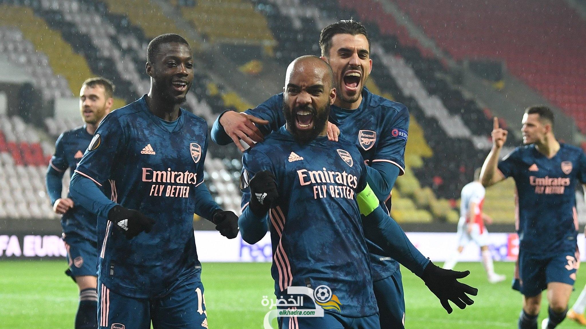 آرسنال يتأهل لنصف نهائي الدوري الأوروبي 23