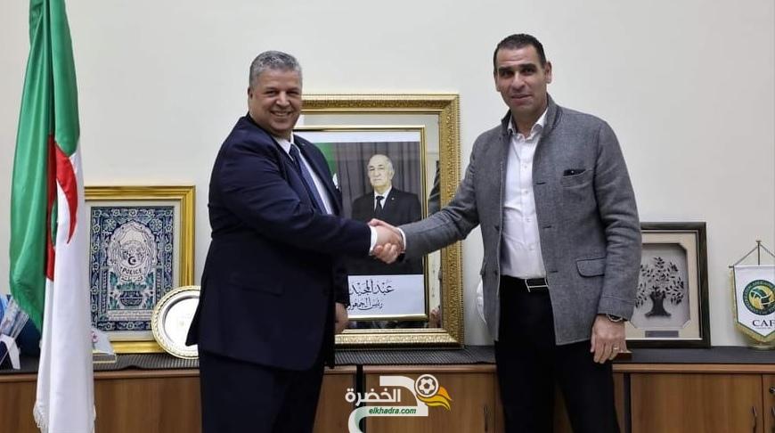 شرف الدين عمارة يستلم رئاسة الاتحاد الجزائري لكرة القدم 1