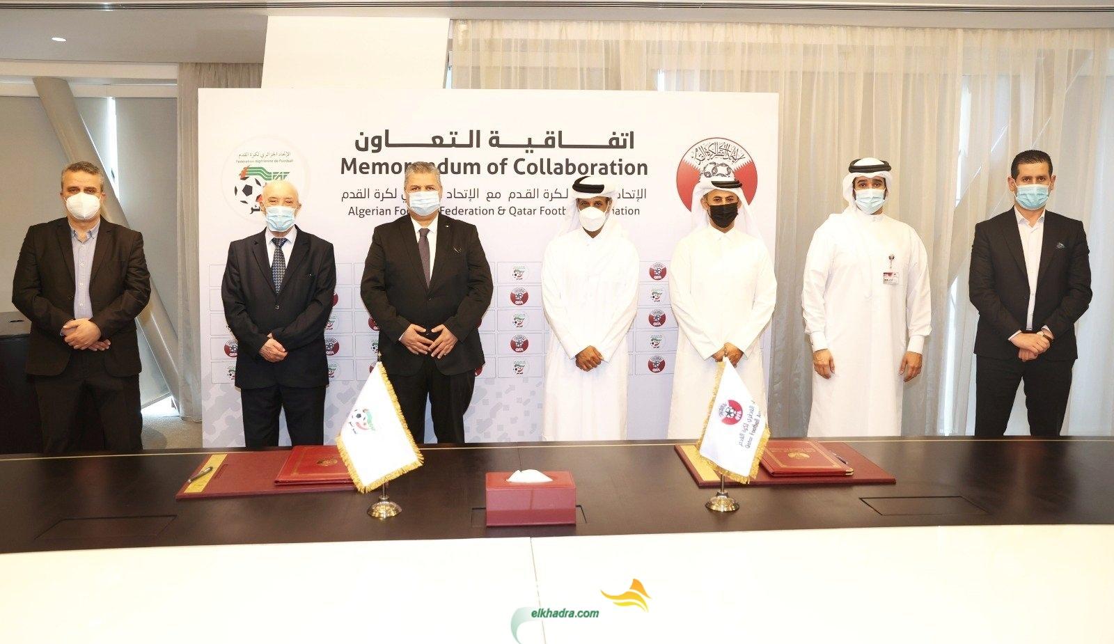 كرة القدم : اتفاقية تعاون بين الاتحادين الجزائري ونظيره القطري 1