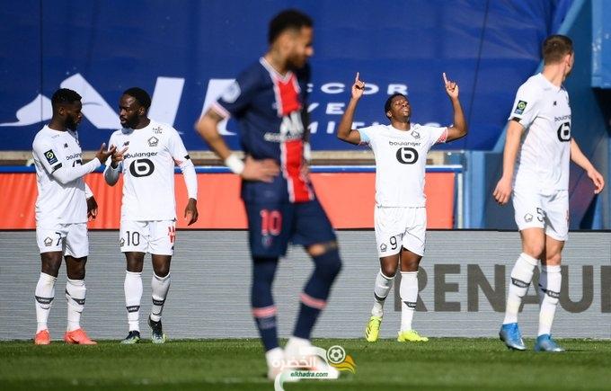 ليل يحسم قمة الدوري الفرنسي بفوزه على مضيفه باريس سان جيرمان 1