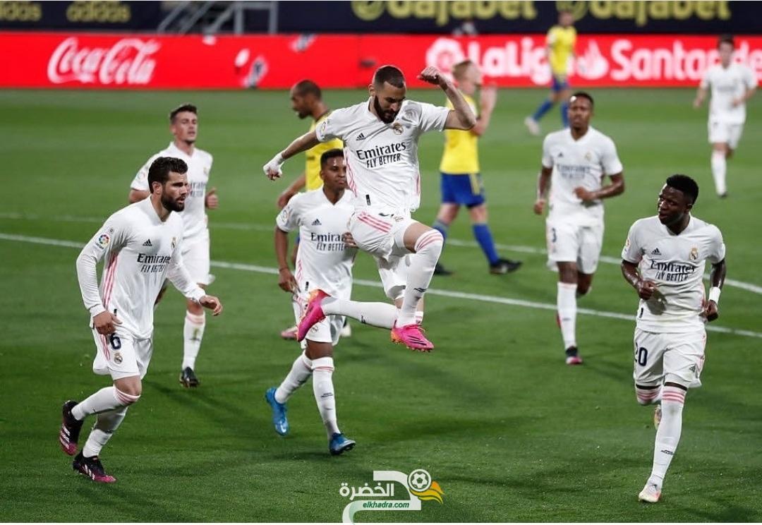 ريال مدريد يفوز على قادش بثلاثية في الجولة 31 من الليجا 26