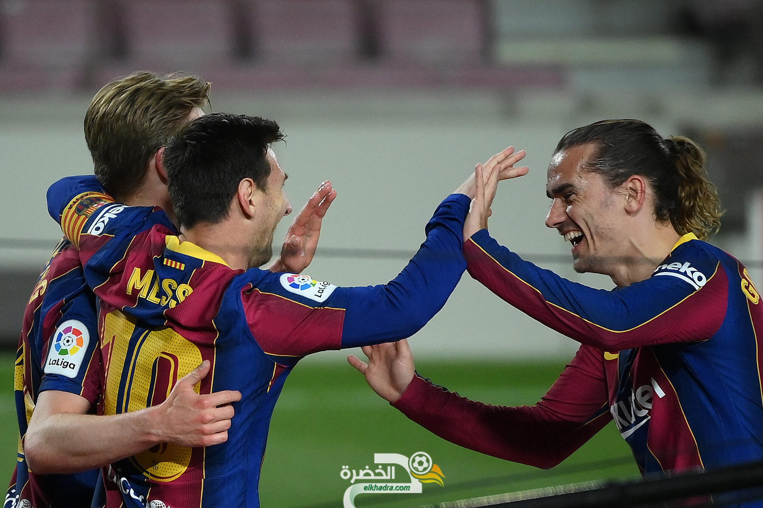 ميسي يقود برشلونة للفوز على ضيفه خيتافي بخماسية 6