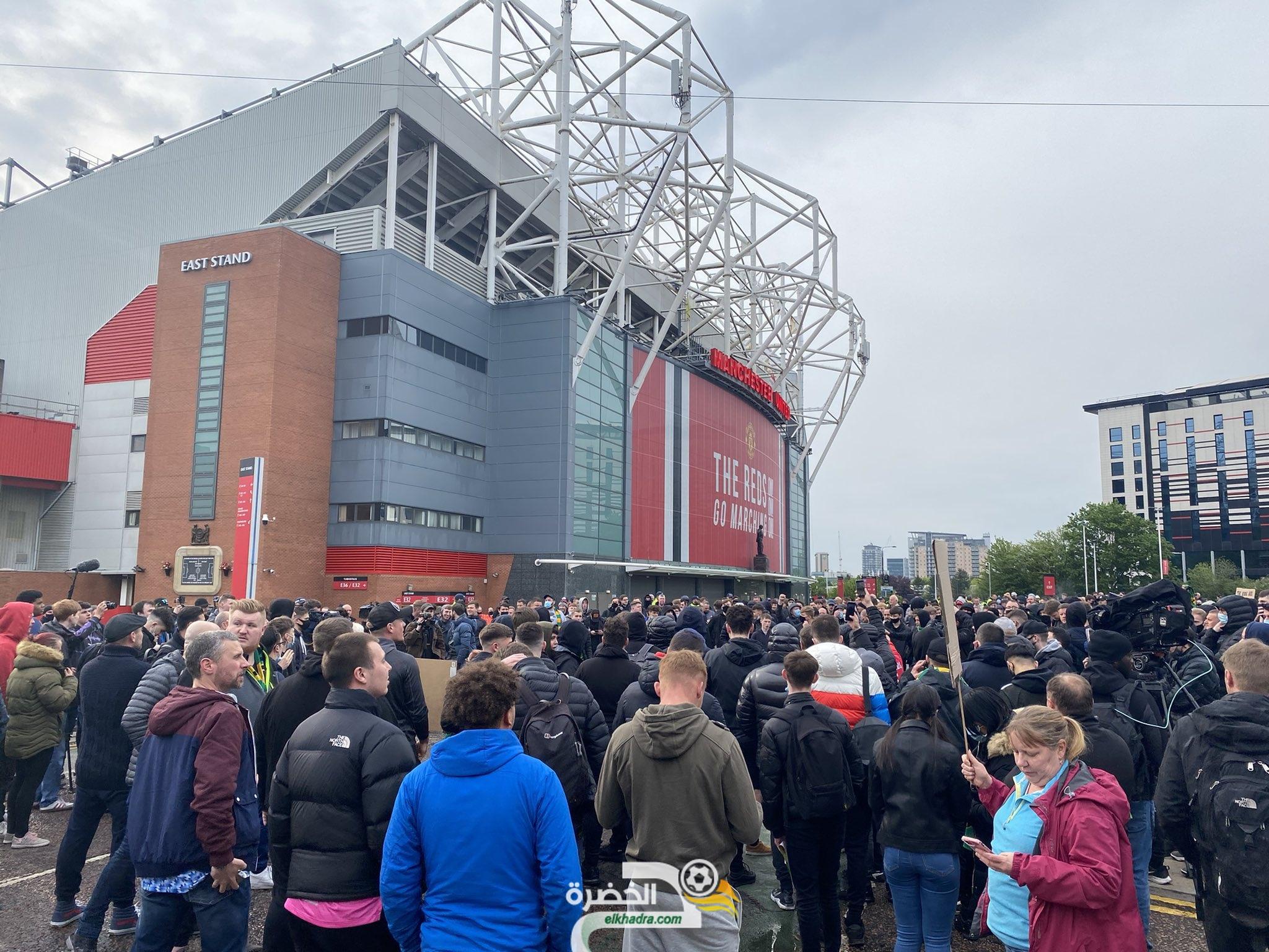"""قبل مواجهة ليفربول .. جماهير مانشستر يونايتد :""""سنقتحم أولد ترافورد مرة أخرى"""" 9"""