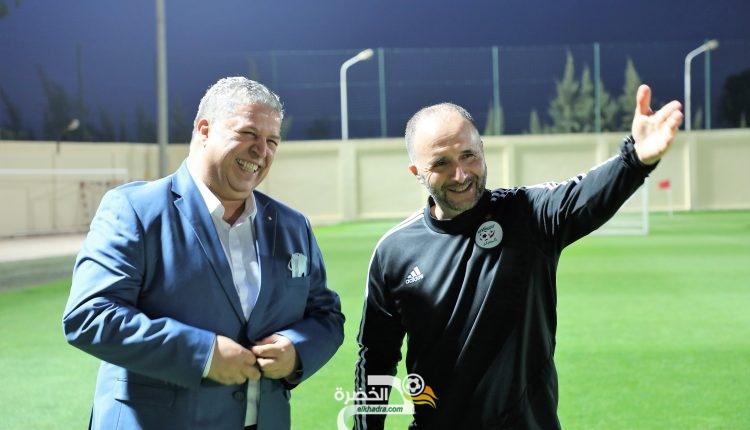 المنتخب الوطني: رئيس الفاف يزور الخضر في مركز سيدي موسى 1