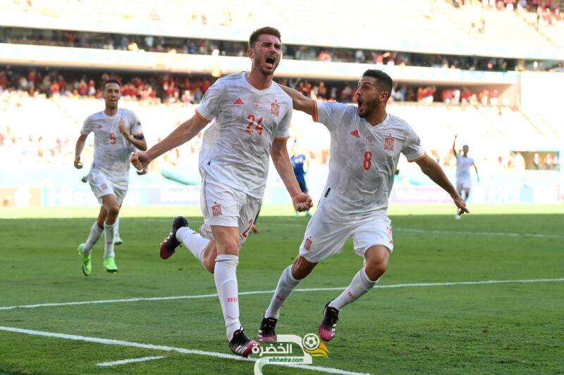 إسبانيا تمطر شباك سلوفاكيا بخماسية وتتأهل إلى الدور الثاني من يورو 2020 2