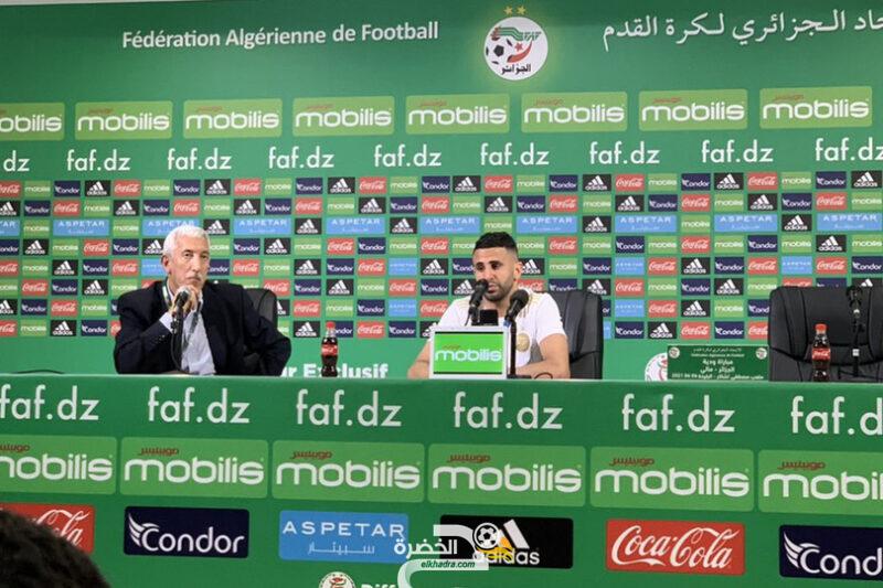 ملخص ماقاله رياض محرز في المؤتمر الصحفي بعد مباراة مالي 5
