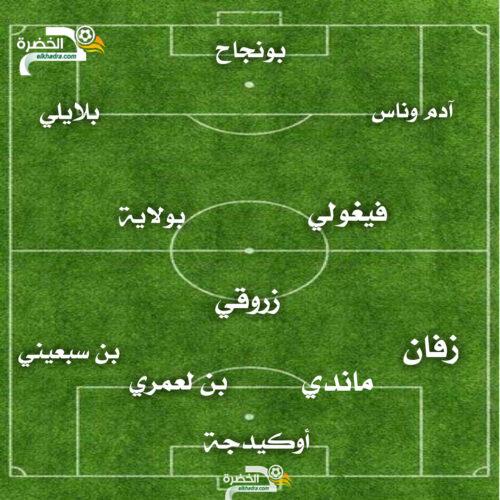 التشكيلة المتوقعة للمنتخب الجزائري ضد مالي اليوم 1