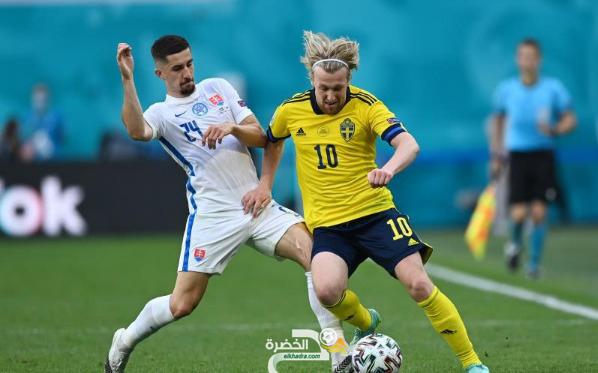 كأس أمم أوروبا 2020 : المنتخب السويدي يفوز على منتخب سلوفاكيا 6