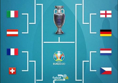 جدول مباريات دور الـ16 من كأس أمم أوروبا 2020 1