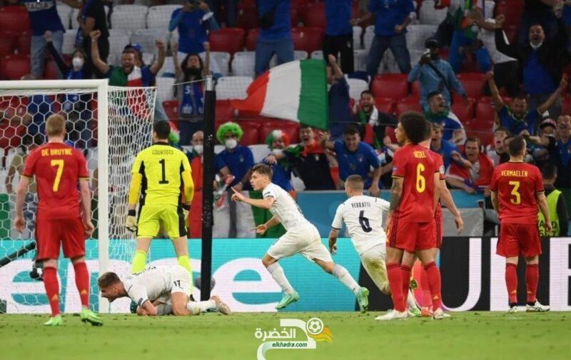 """إيطاليا تتخطّى بلجيكا وتبلغ نصف نهائي """"يورو 2020"""" 4"""