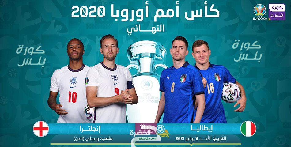 """القنوات الناقلة مباراة إنجلترا وإيطاليا بكأس أمم أوروبا """" يورو 2020″ 5"""