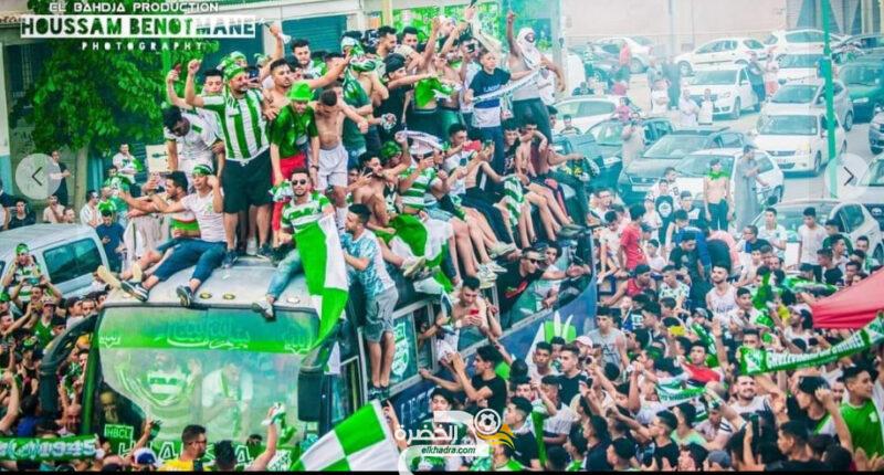 أنصار فريق هلال شلغوم العيد يحتفلون بالصعود إلى الرابطة المحترفة الأولى 1